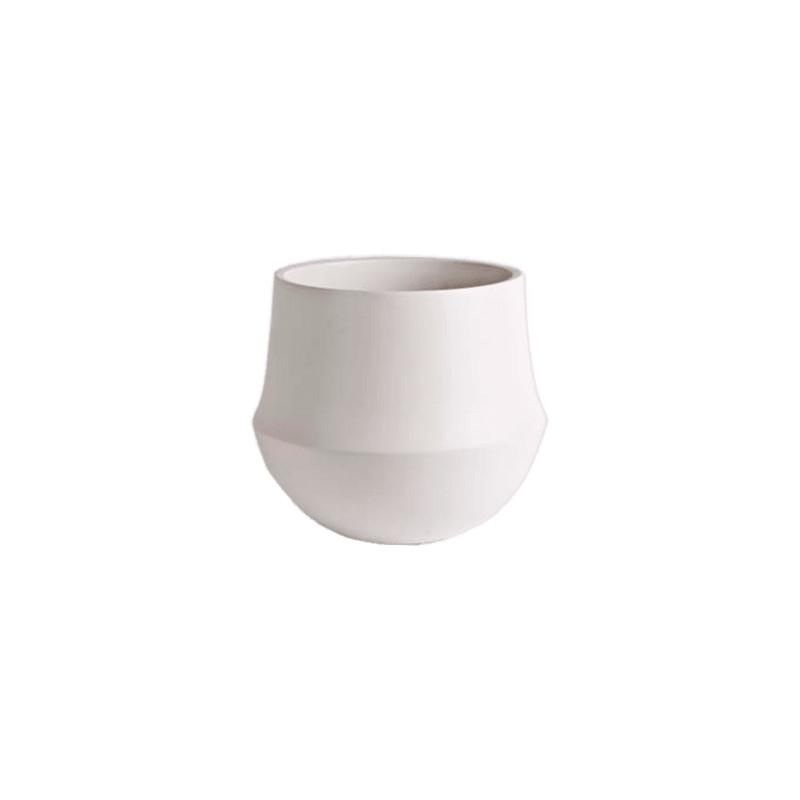 D&M Indoor pot fusion white 24x22 cm