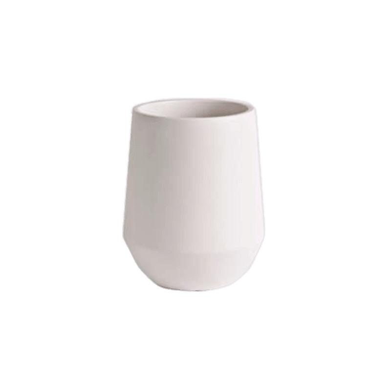 D&M Indoor vase fusion white 18x26 cm