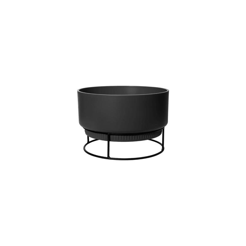 B.For Studio Bowl Living Black 30x19 cm