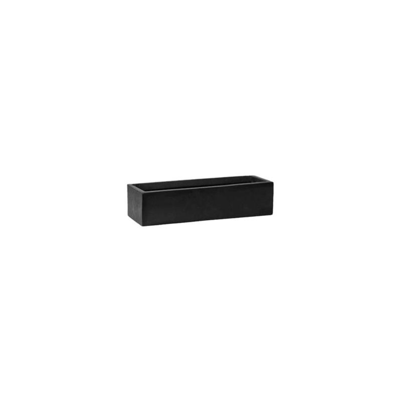 Fiberstone balcony slim low black XS 40x15x10 cm