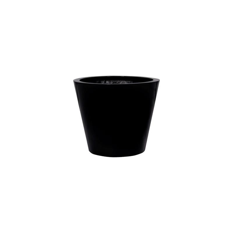 Fiberstone Glossy black bucket S 49x40 cm