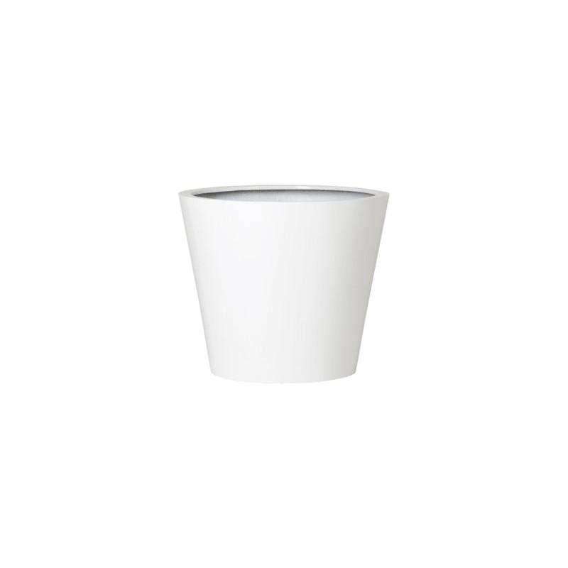 Fiberstone Glossy white bucket S 49x40 cm