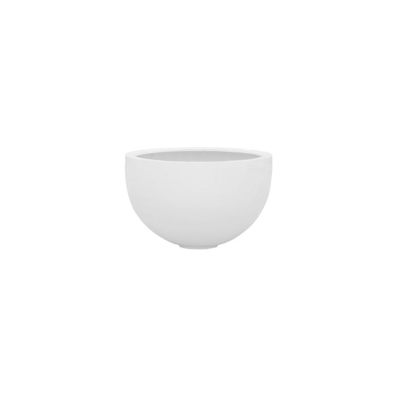 Fiberstone Glossy white bowl L 60x38 cm