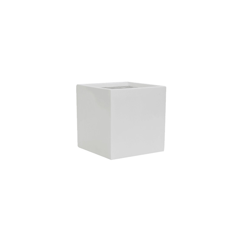 Fiberstone Glossy white fleur S 15x15x15cm