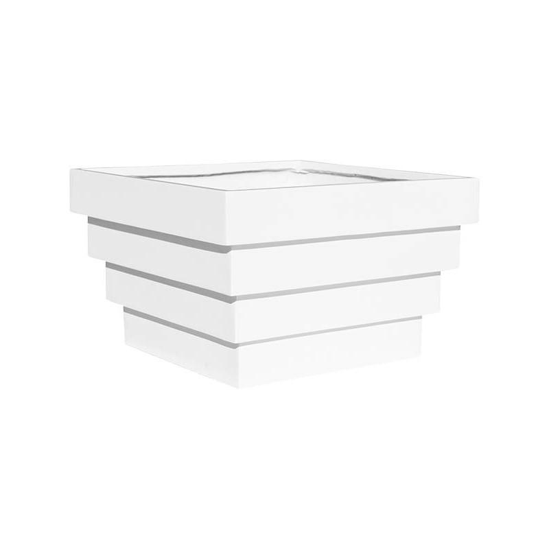 Fiberstone Jan Des Bouvrie Glossy white cannes 47x47x30 cm
