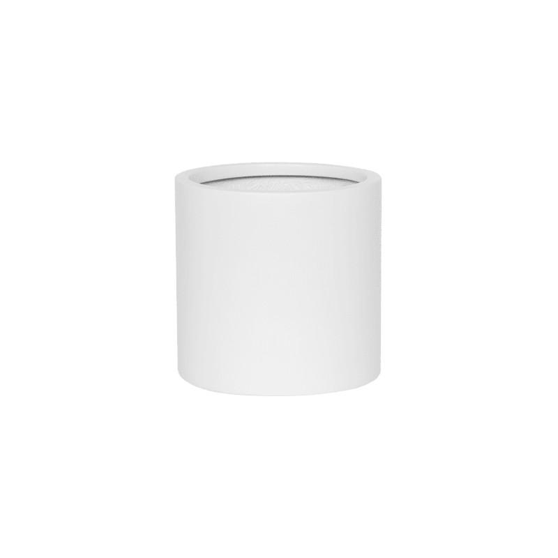 Kvetináč Fiberstone matt white puk S 15x15 cm