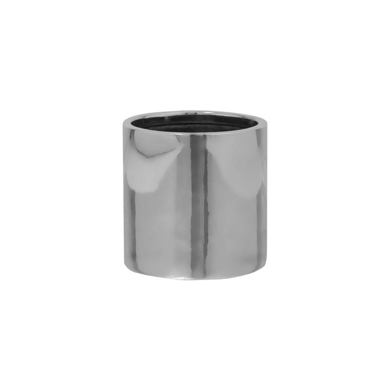 Fiberstone Platinum silver puk S 15x15 cm