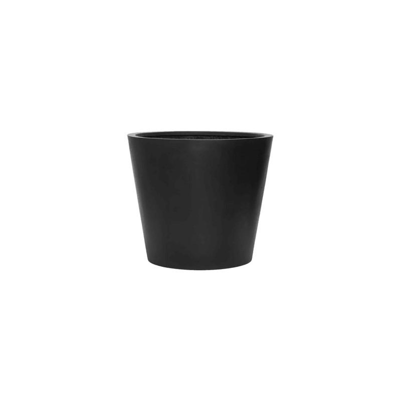 Fiberstone bucket black L 70x60 cm