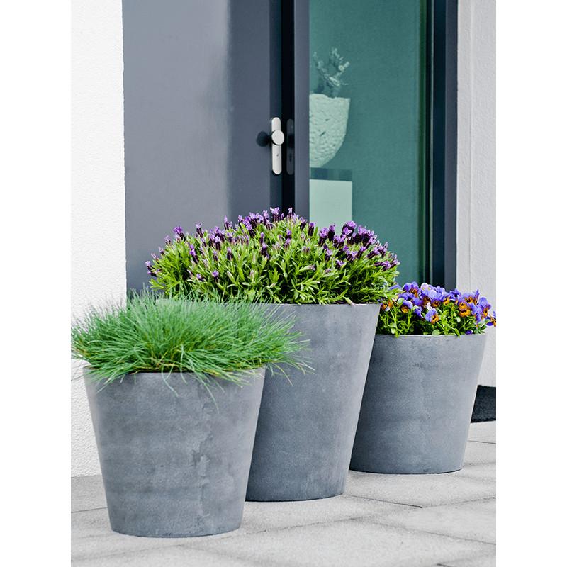 Fiberstone bucket grey XS 40x35 cm