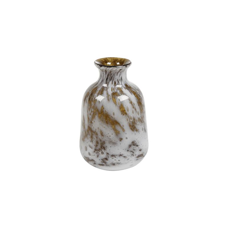 Aya Vase Bottle Mustard 17x26 cm