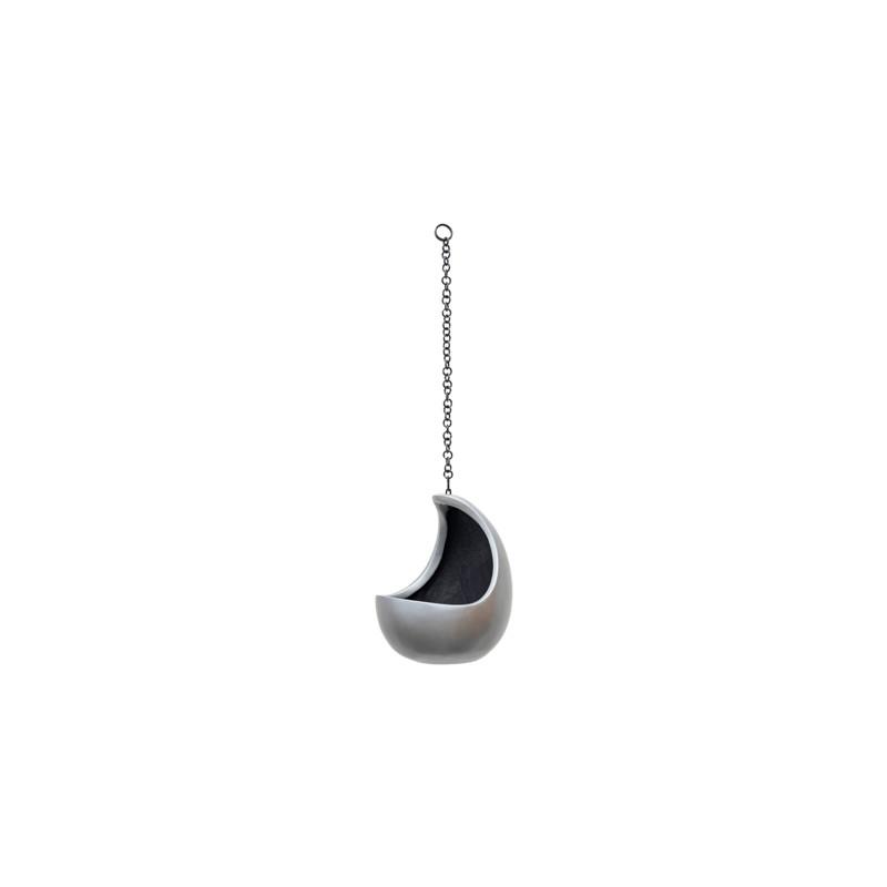 Gradient Hanging cocoon matt grey 20x24 cm