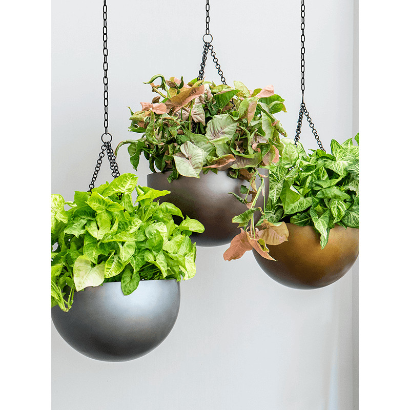 Gradient Hanging bowl matt coffee 38x24 cm