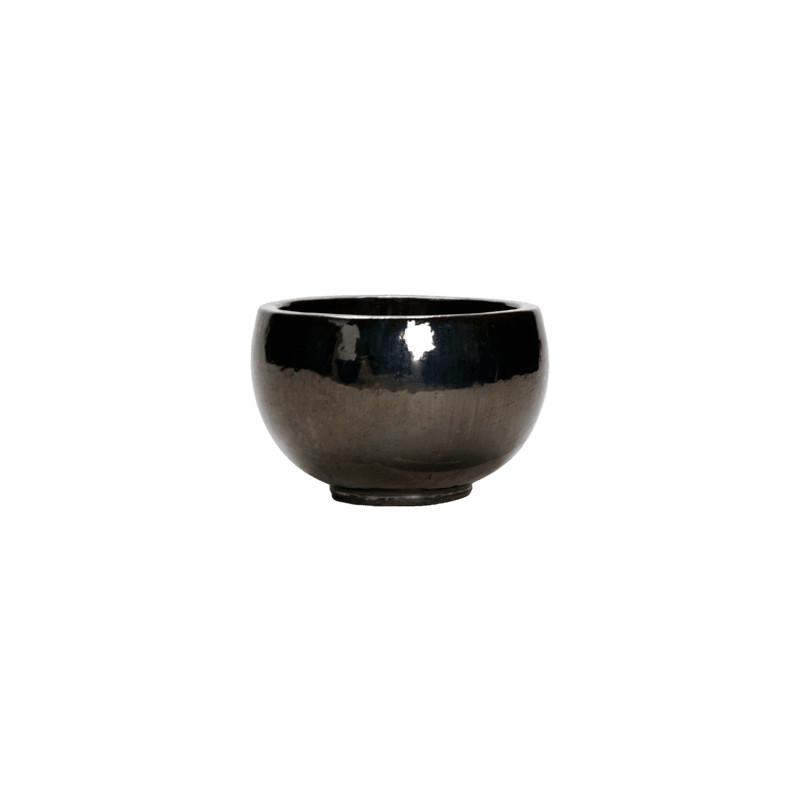 Plain Metal Glaze bowl 47x29 cm