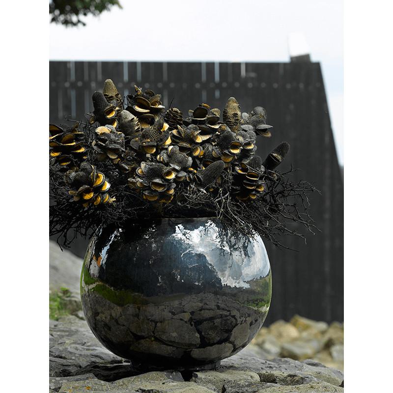 Plain Metal Glaze globe 47x38 cm
