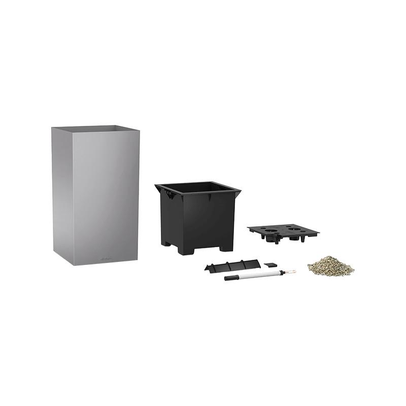 Lechuza Canto Premium Tower All inclusive set Silver Metallic 40x40x76 cm