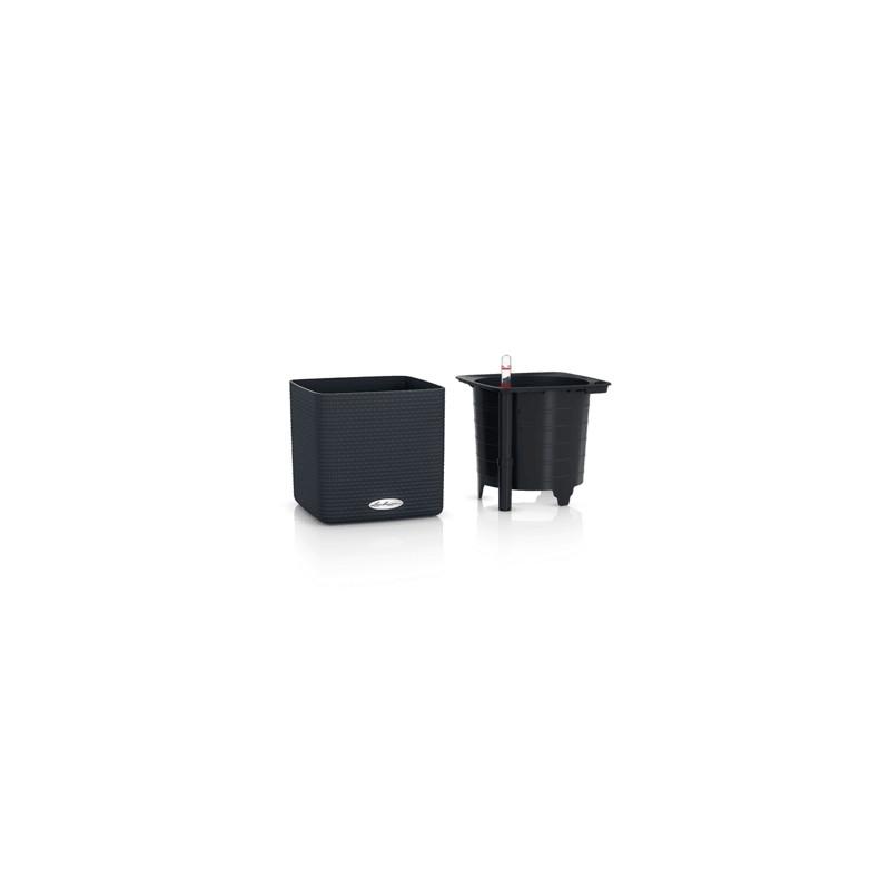 Lechuza Cube Color (Trend) All inclusive set slate (struture) 17x17x16 cm