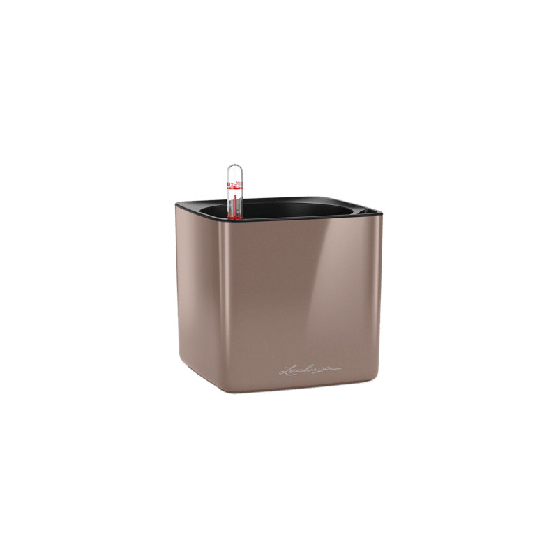 Lechuza Cube Glossy 14 All inclusive set smoky diamond highgloss 14x14x14 cm