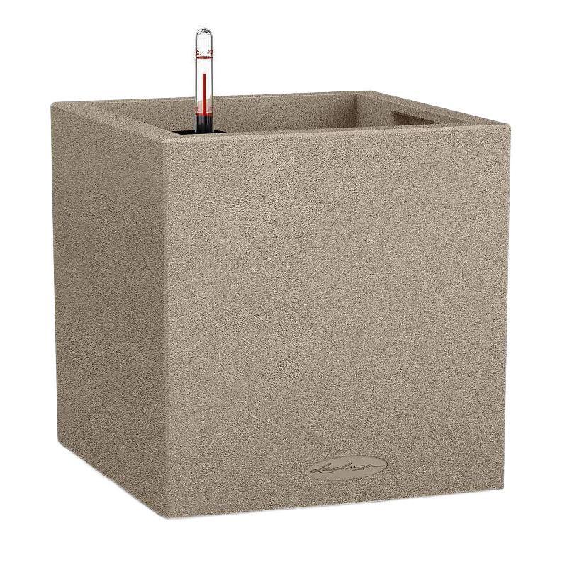 Lechuza Canto Square Trend All inclusive set sand beige 30x30x30