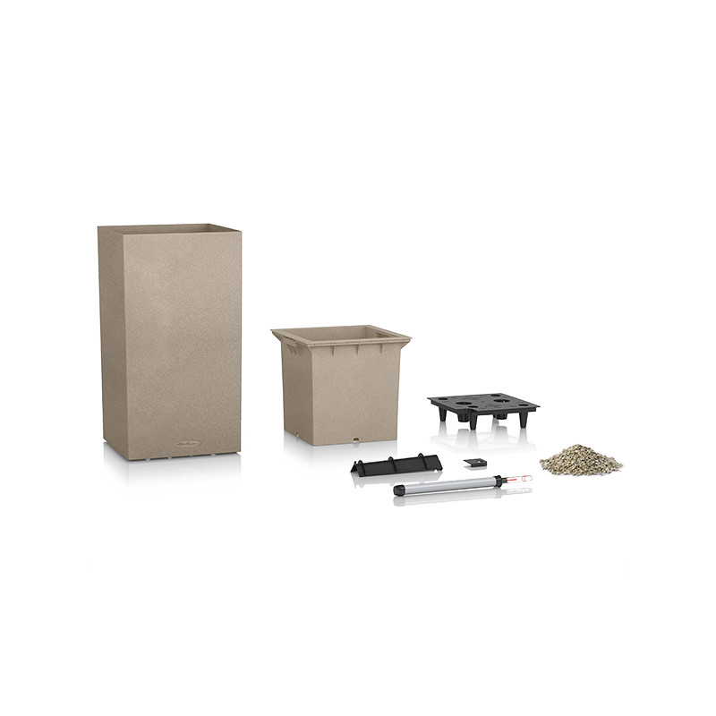 Lechuza Canto Premium Tower All inclusive set Taupe High Gloss 40x40x76 cm