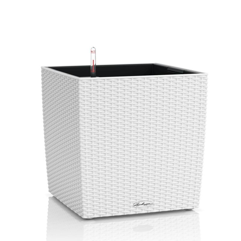 Lechuza Trend Cube Cottage All inclusive set white 30x30x33