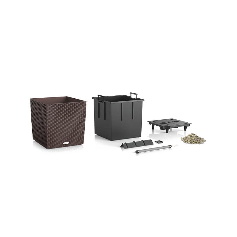 Lechuza Trend Cube Cottage All inclusive set mocha 30x30x33