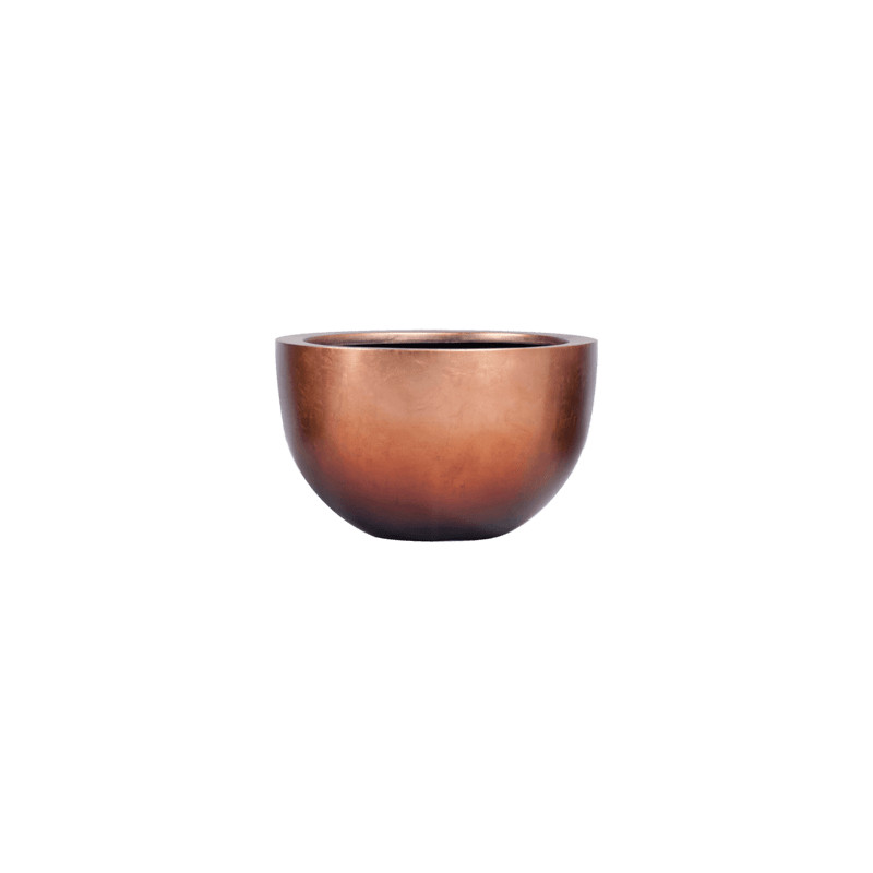 Metallic Silver leaf Bowl matt copper 45x27 cm