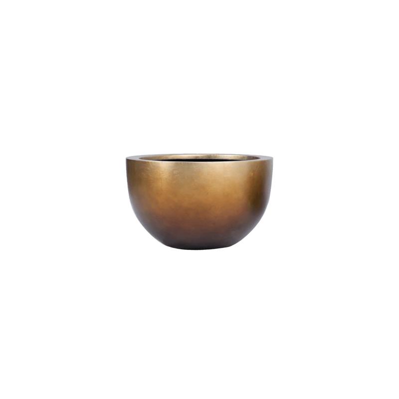 Metallic Silver leaf Bowl matt honey 45x27 cm
