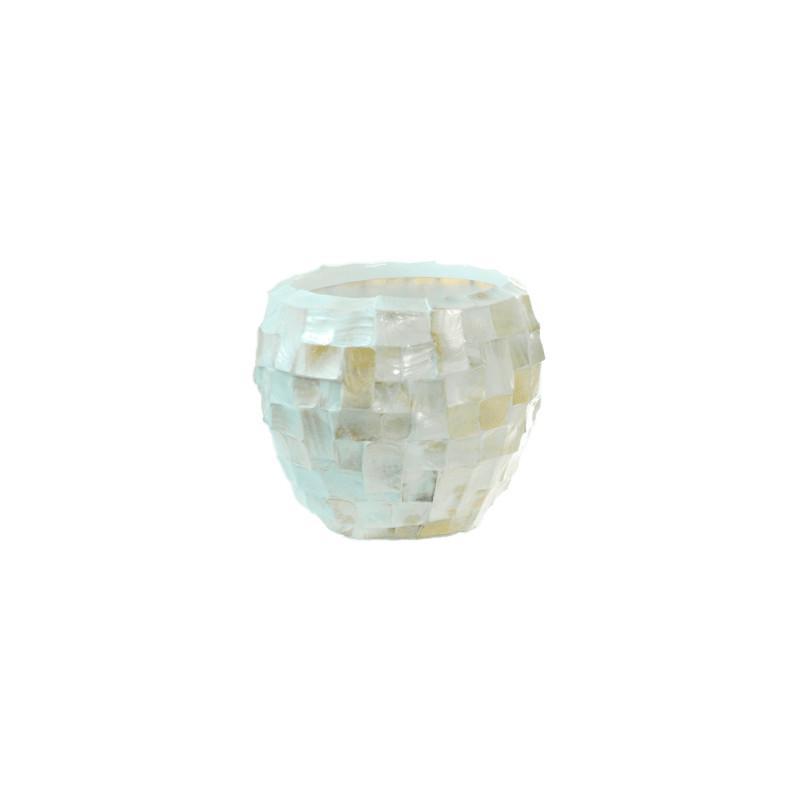 Shell Oceana Couple pearl white 17x15 cm