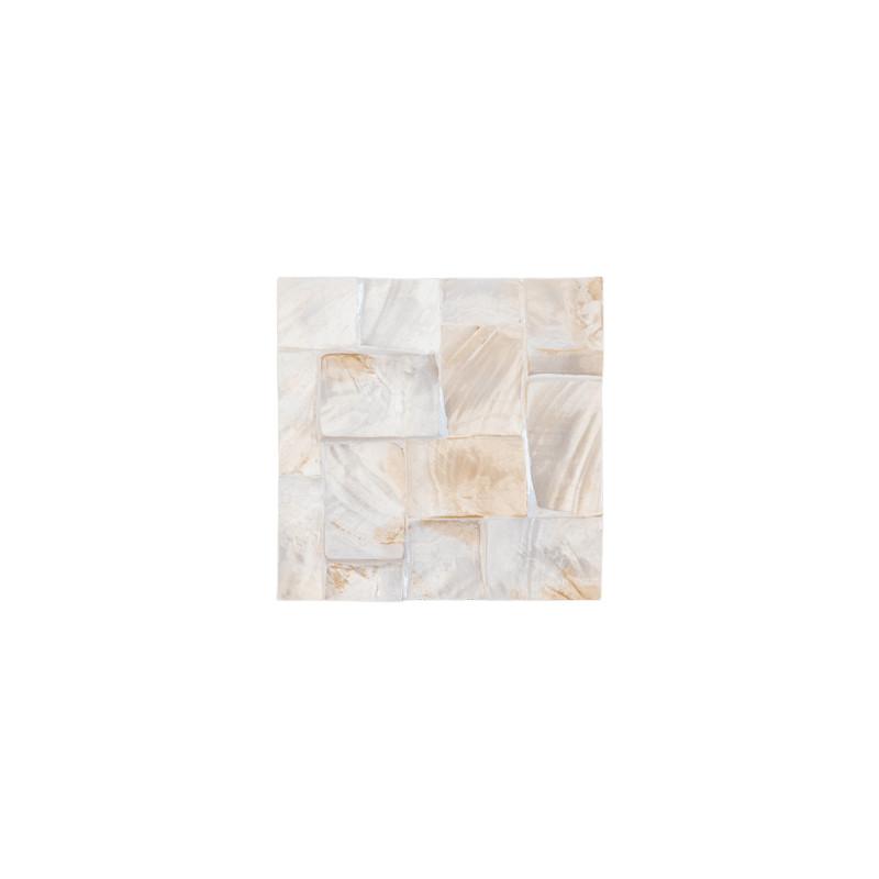Oceana Pearl sample plate white 20x20x2 cm