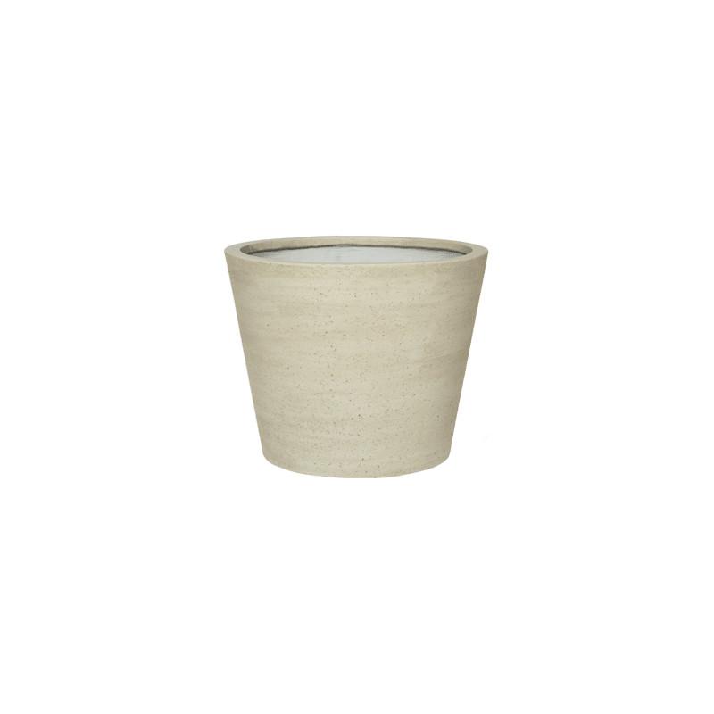 Cement Bucket M beige washed 50x40 cm