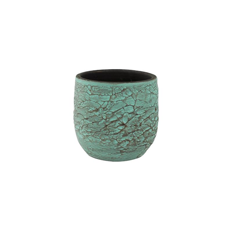 Indoor Pottery Pot Evi Antiq Bronze 18x16 cm