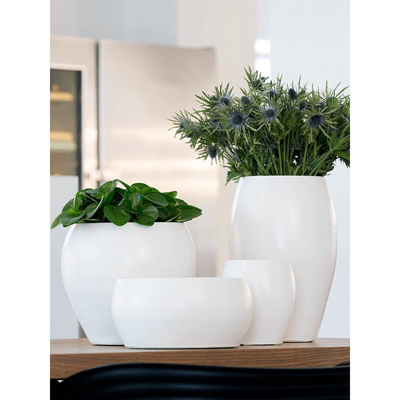 Cresta Pot Tall Pure white 19x16 cm