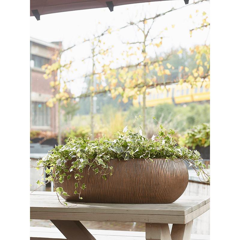 Twist boat planter bronze 56x23x20 cm