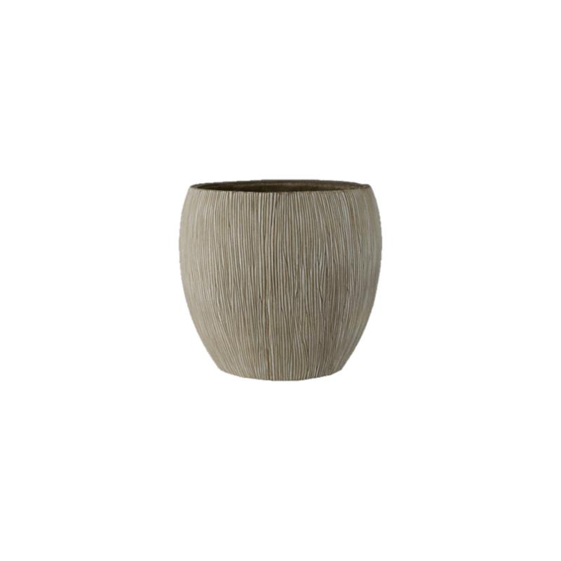 Twist pot camel 56x52 cm