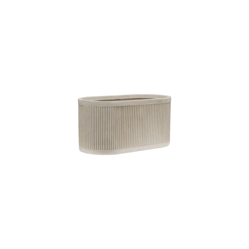 Vertical Rib Oval beige 50x28x25 cm