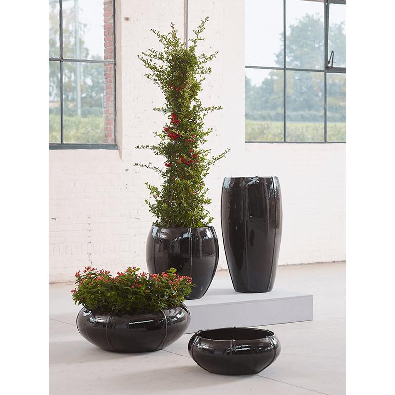 Kvetináč Moda Bowl blacky shiny 55x22 cm