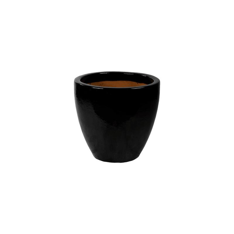 Plain Black Shiny Couple 55x52 cm