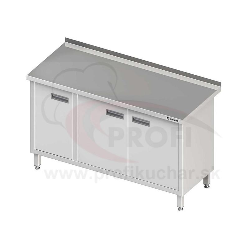 Pracovný stôl krytovaný STALGAST® 1300x700mm, krídlové dvere