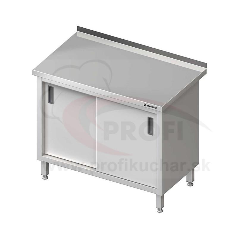 Pracovný stôl krytovaný - posuvné dvere 800x600x850mm