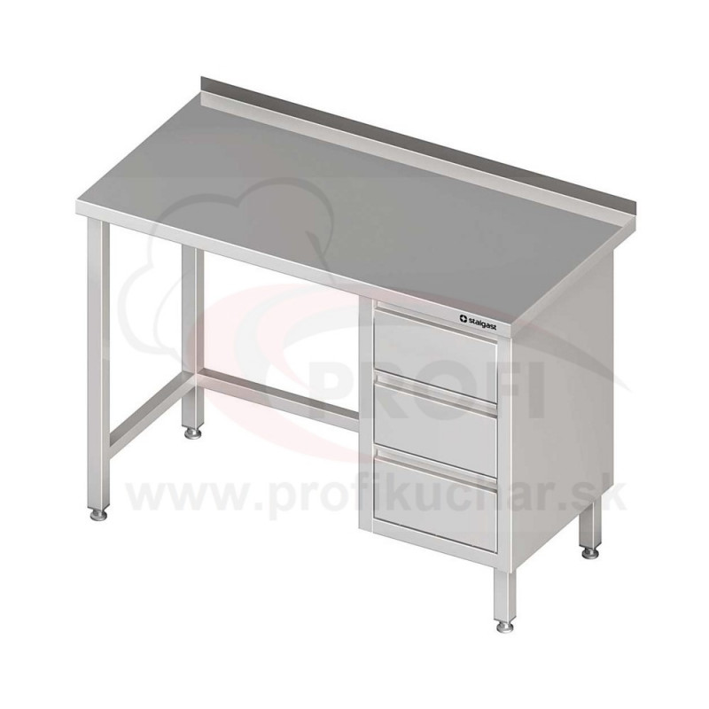 Pracovný stôl so zásuvkami - bez police 1500x600x850mm