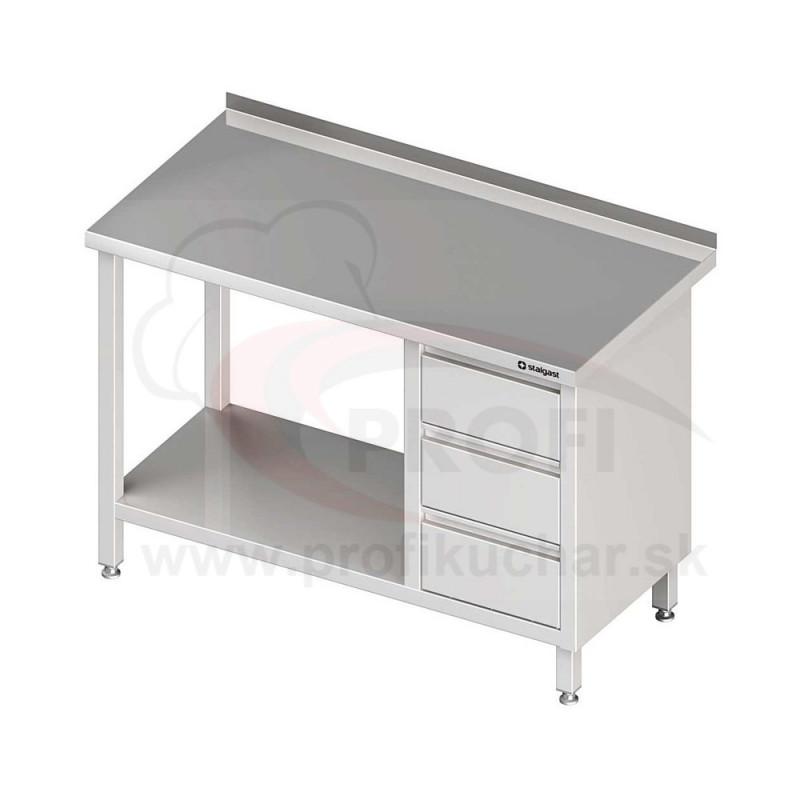 Pracovný stôl so zásuvkami - s policou 900x600x850mm