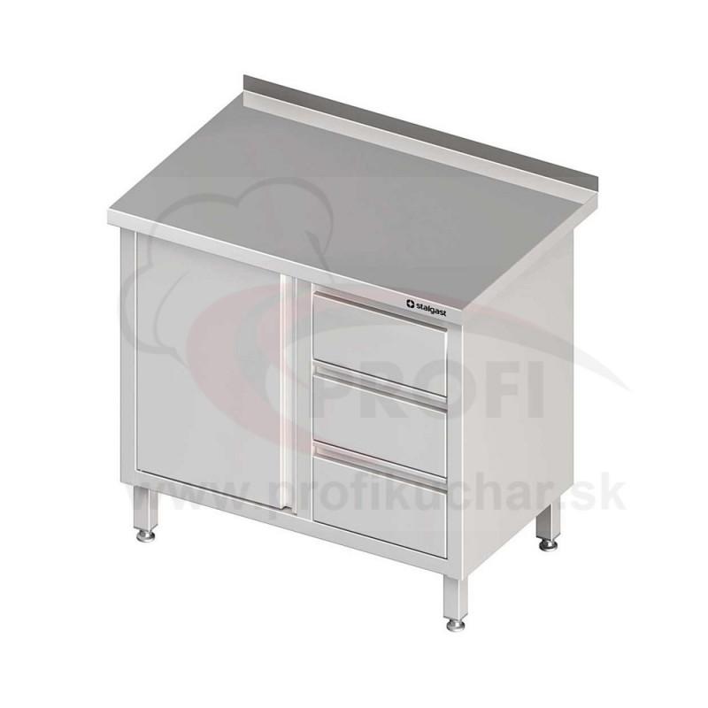 Pracovný stôl so zásuvkami - s policou 1800x700x850mm