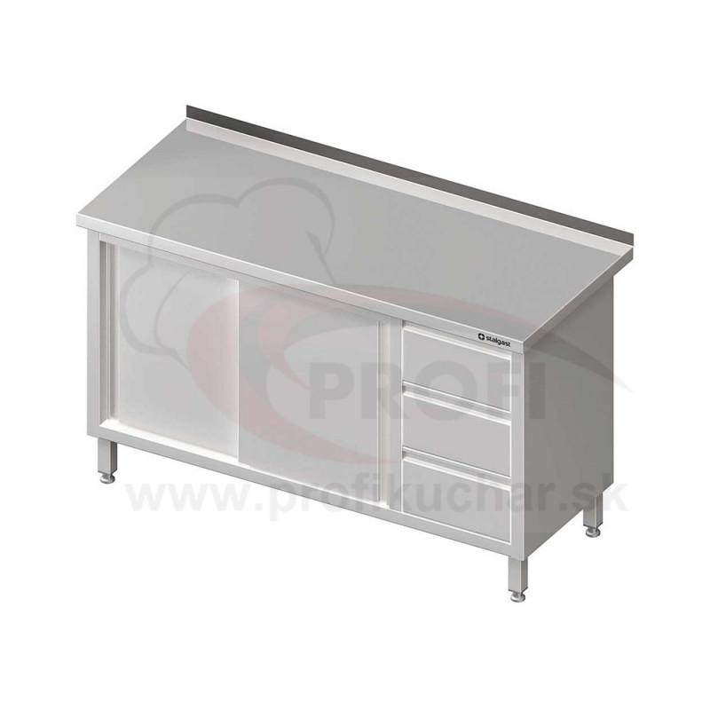 Pracovný stôl so zásuvkami -posuvné dvere 1200x600x850mm