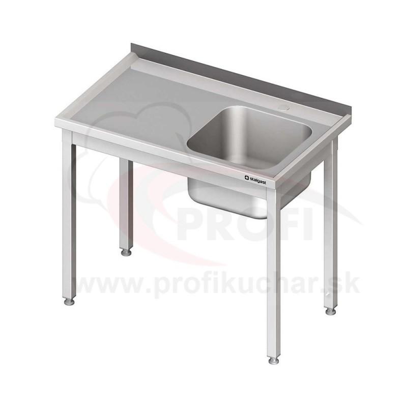 Umývací stôl s drezom - bez police 800x700x850mm