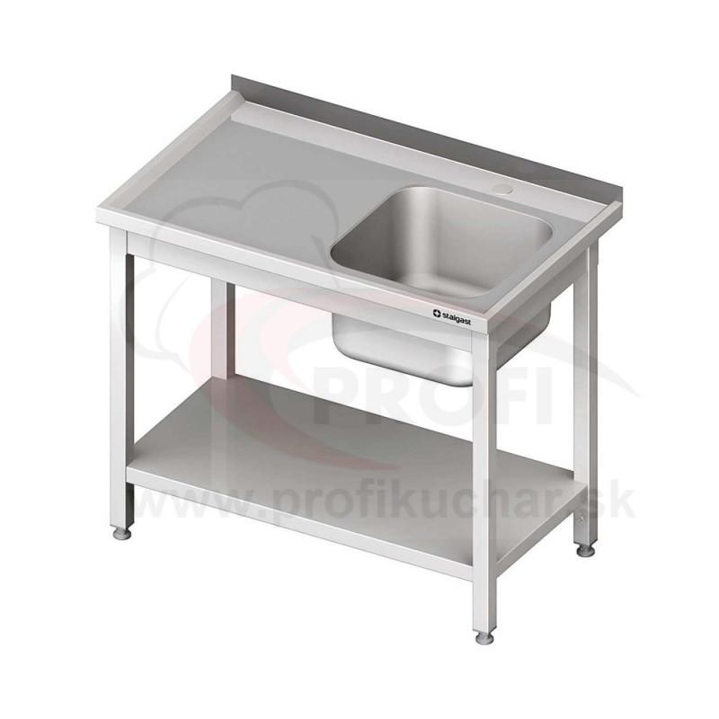 Umývací stôl s dvojdrezom - s policou 1600x700x850mm