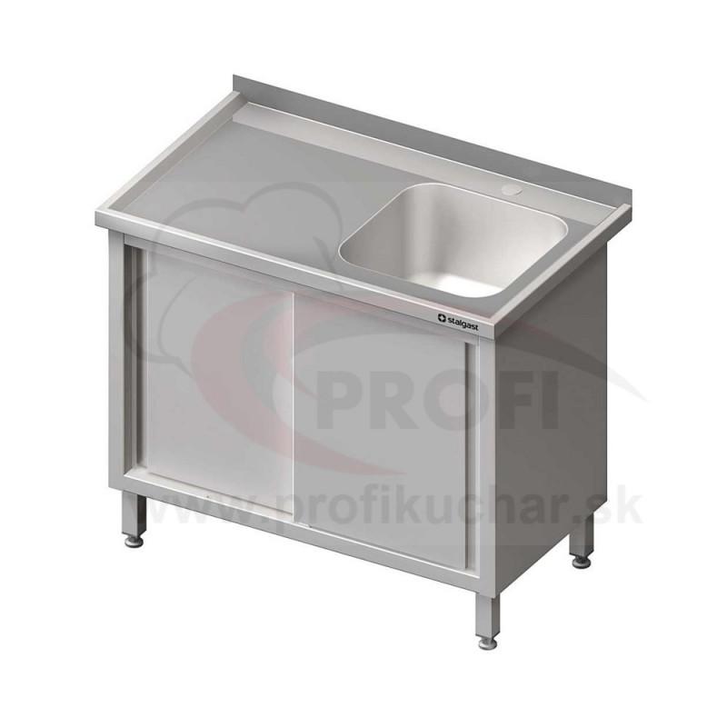 Umývací stôl krytovaný s drezom - posuvné dvere 800x600x850mm