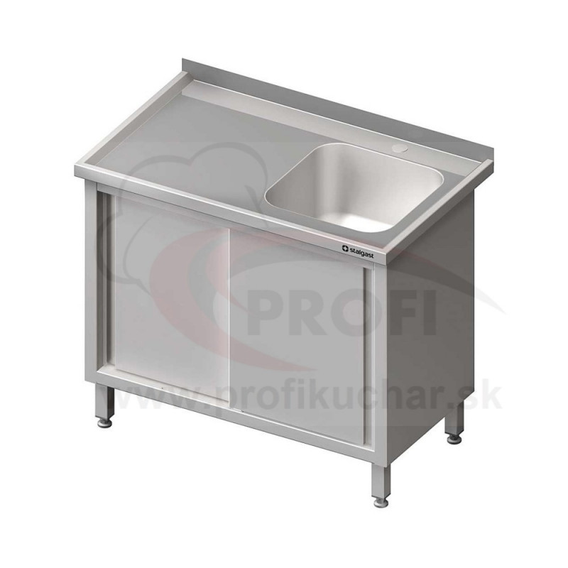 Umývací stôl krytovaný s drezom - posuvné dvere 1400x700x850mm