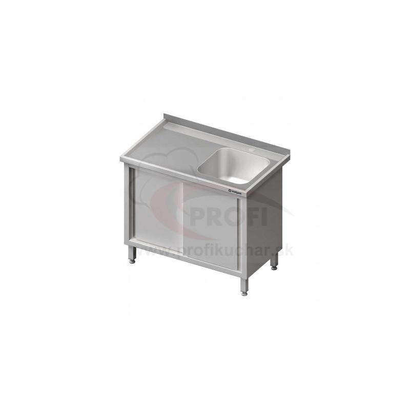 Umývací stôl krytovaný s drezom 500x500mm - posuvné dvere 1900x700x850mm