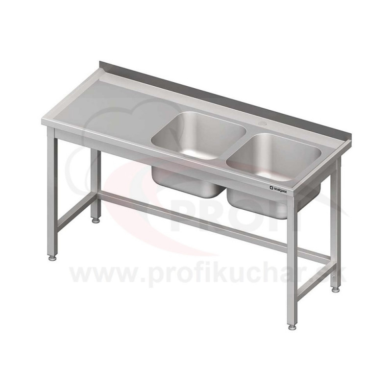 Umývací stôl s drezom - bez police 1600x700x850mm