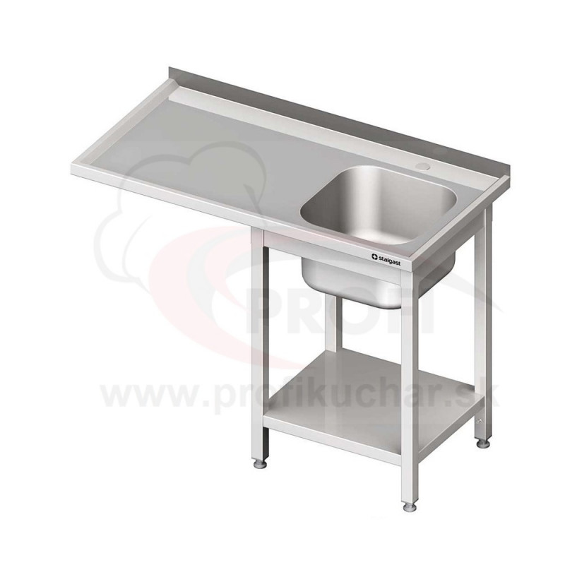 Umývací stôl s priestorom pre podstolovú umývačku – LAVÝ 1300mm